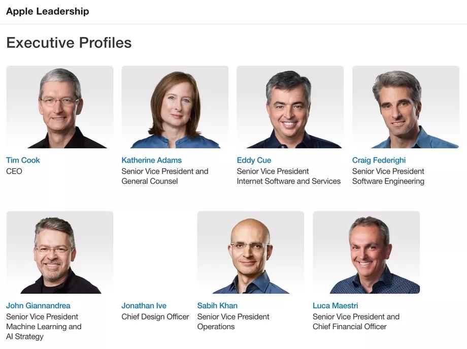 Executive profile apple