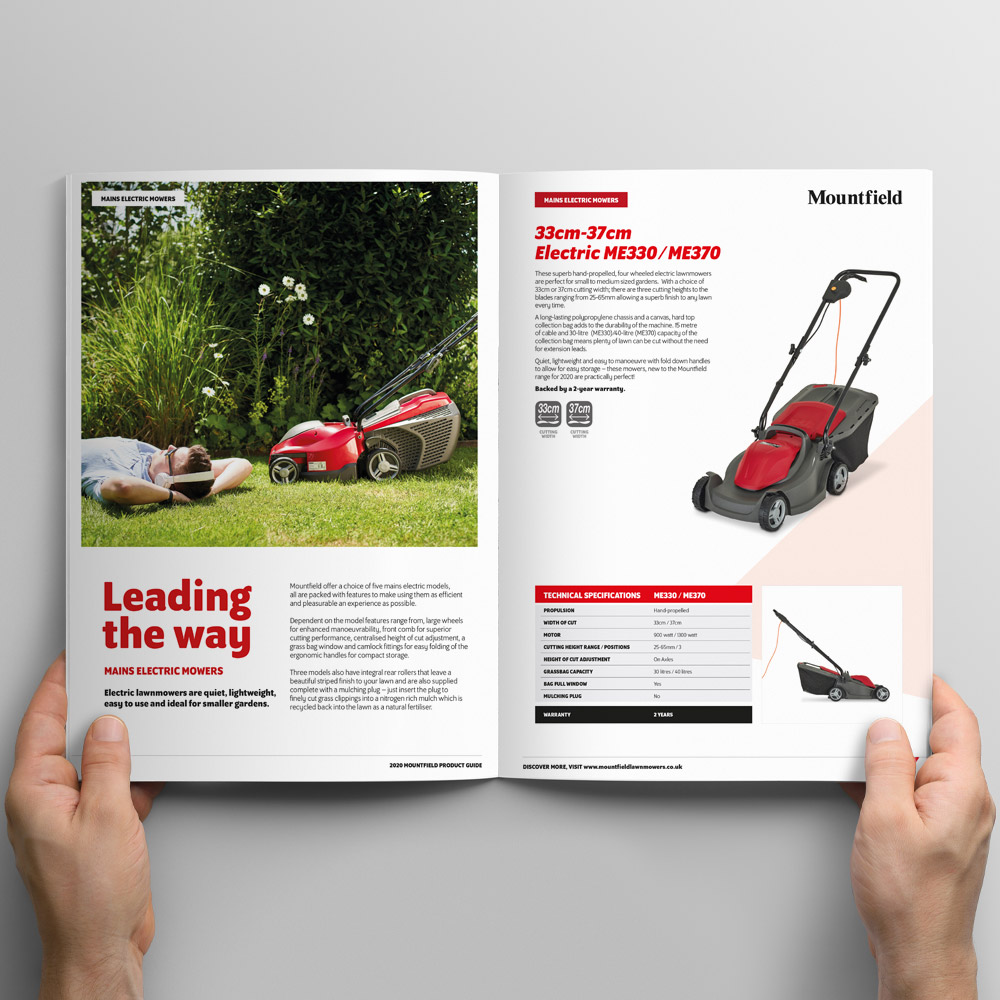 Mountfield Product Brochure Design