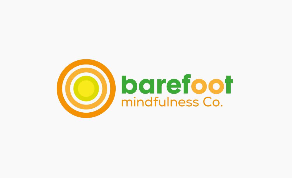 Logo design barefoot mindfulness