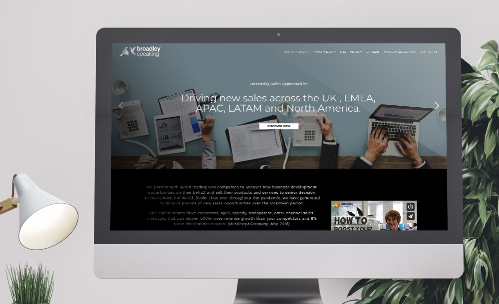 Broadley Speaking website design