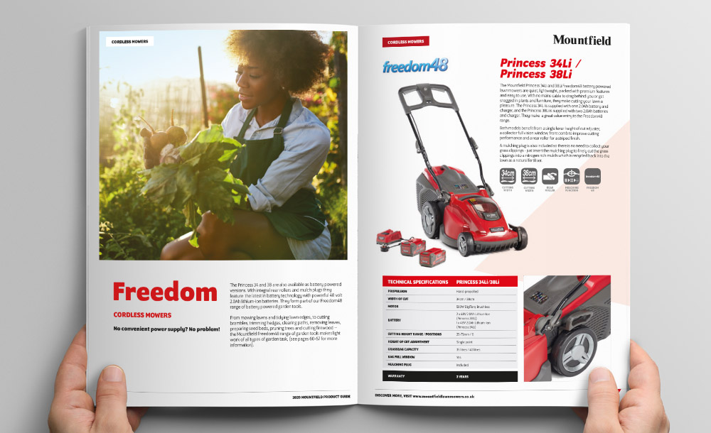 Mountfield brochure design
