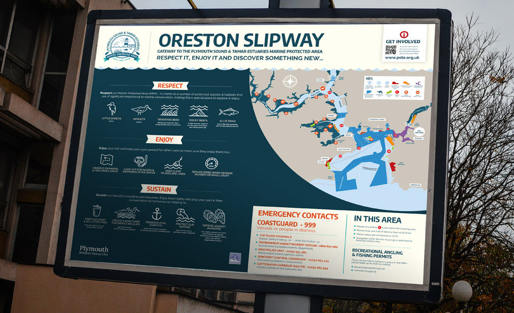 Oreston Slipway signage design