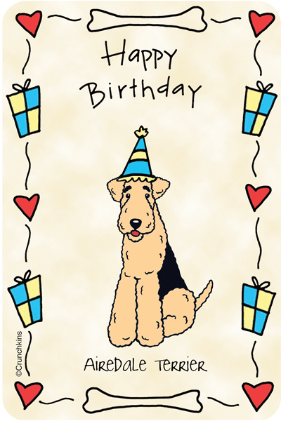 Airedale Terrier Happy Birthday