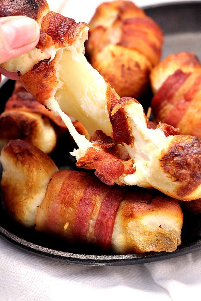Bacon Wrapped Cheese Bombs Recipe Crunchy Creamy Sweet