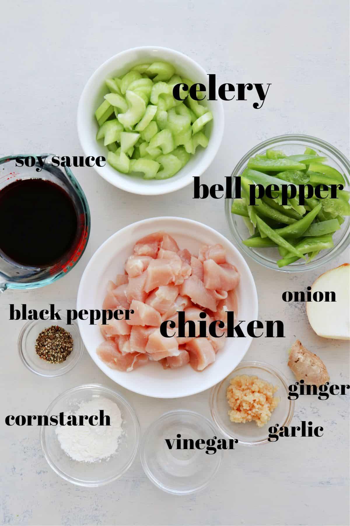 black pepper chicken ingredients 1 Black Pepper Chicken