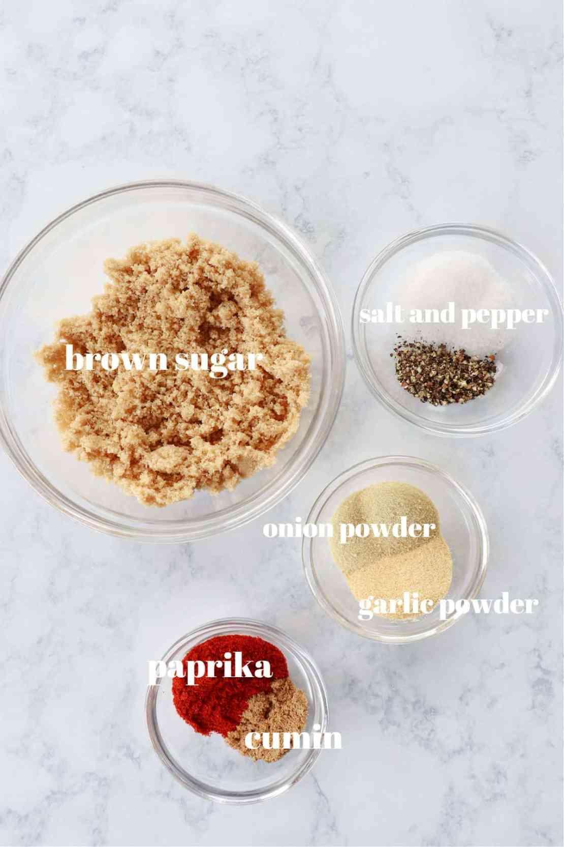dry rub ingredients 1 Dry Rub Recipe