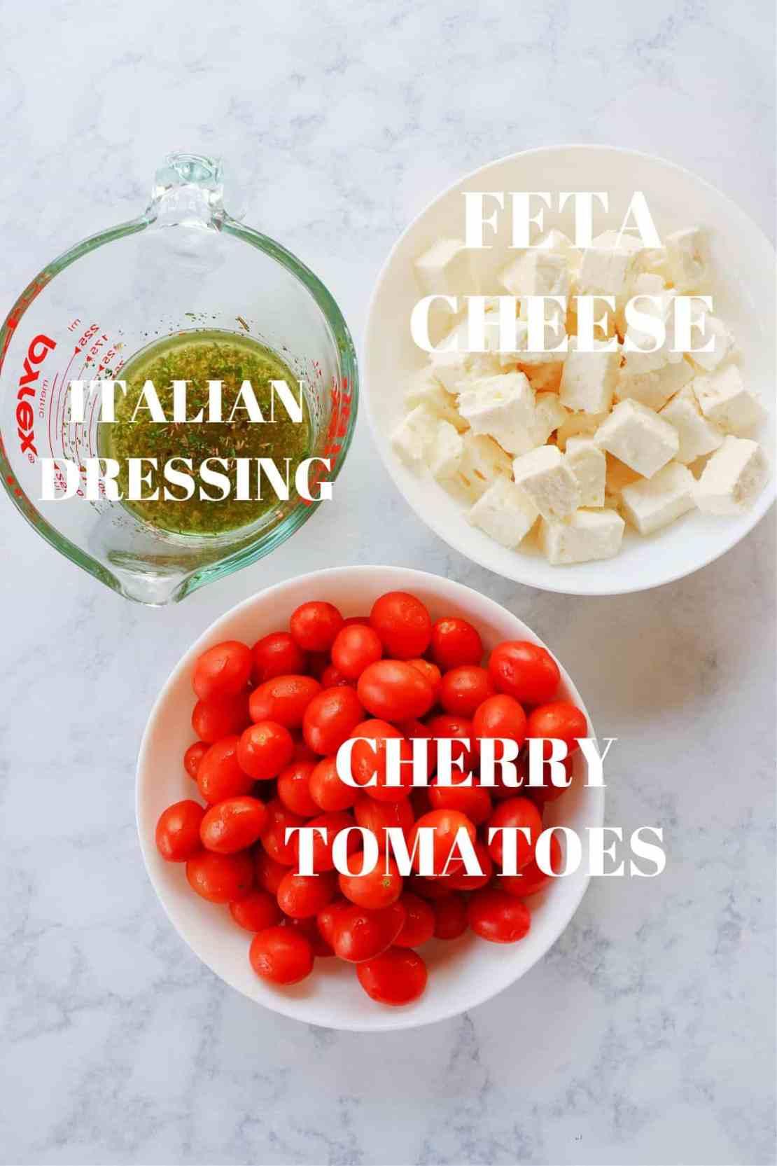 tomato feta salad ingredients 1 Tomato Feta Salad