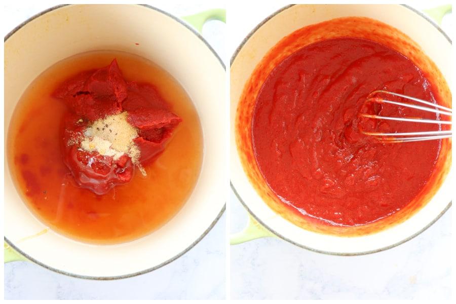 homemade ketchup step 1 and 2 Homemade Ketchup