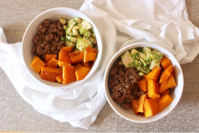 Butternut Squash Taco Bowls   Crunchy Kat & Girl in Healing