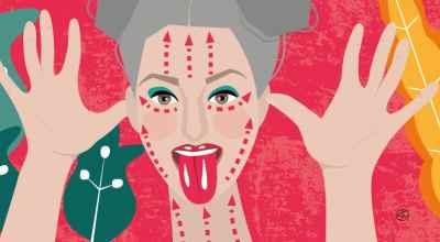 Face Gym Illustration | CrunchyTales Stefania Tomasich