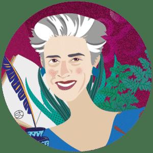 Lorenza Bacino Portrait   Stefania Tomasich illustration   Crunchy Tales