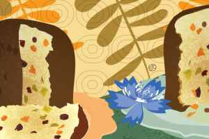 The Top 5 Italian Luxy Panettone   Stefania Tomasich Illustration   Crunchy Tales