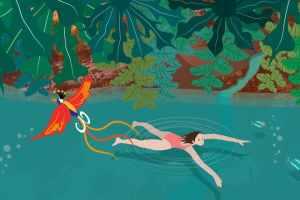 Wild Swimming Illustration   CrunchyTales Stefania Tomasich