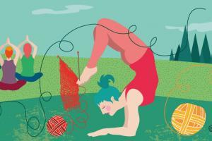 Yoga And More Retreats | CrunchyTales | Stefania Tomasich Illustration