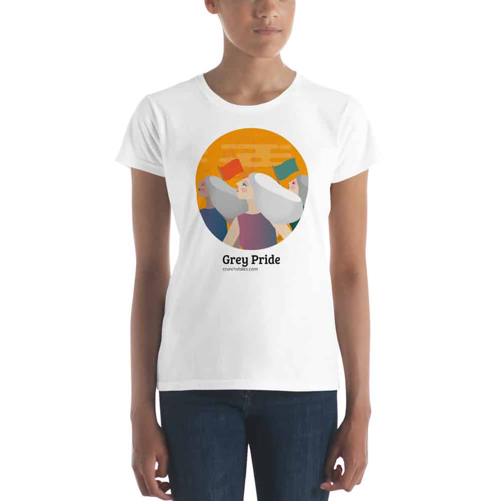 CrunchyTales Grey Pride T-shirt