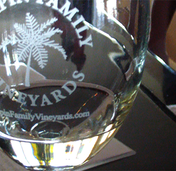 Chapin Family Wine Glass