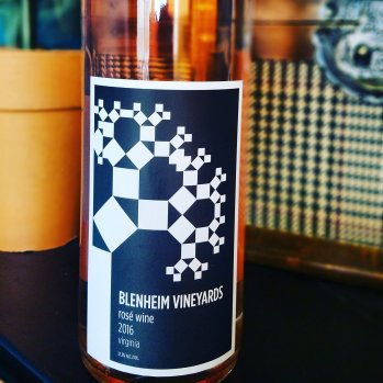 A blend of 46% Merlot, 31% Cab Franc, 12% Pinot Noir and 11% Syrah makes up this Virginia Rosé.