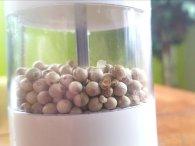 white pepper in a pepper grinder