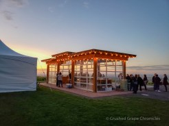 Cadaretta Glass house and tent at sunset