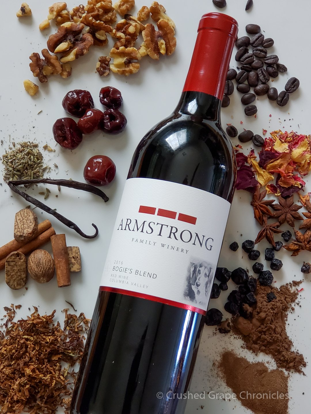 Armstrong Family Winery 2016 Bogie's Blend with it's flavor profile