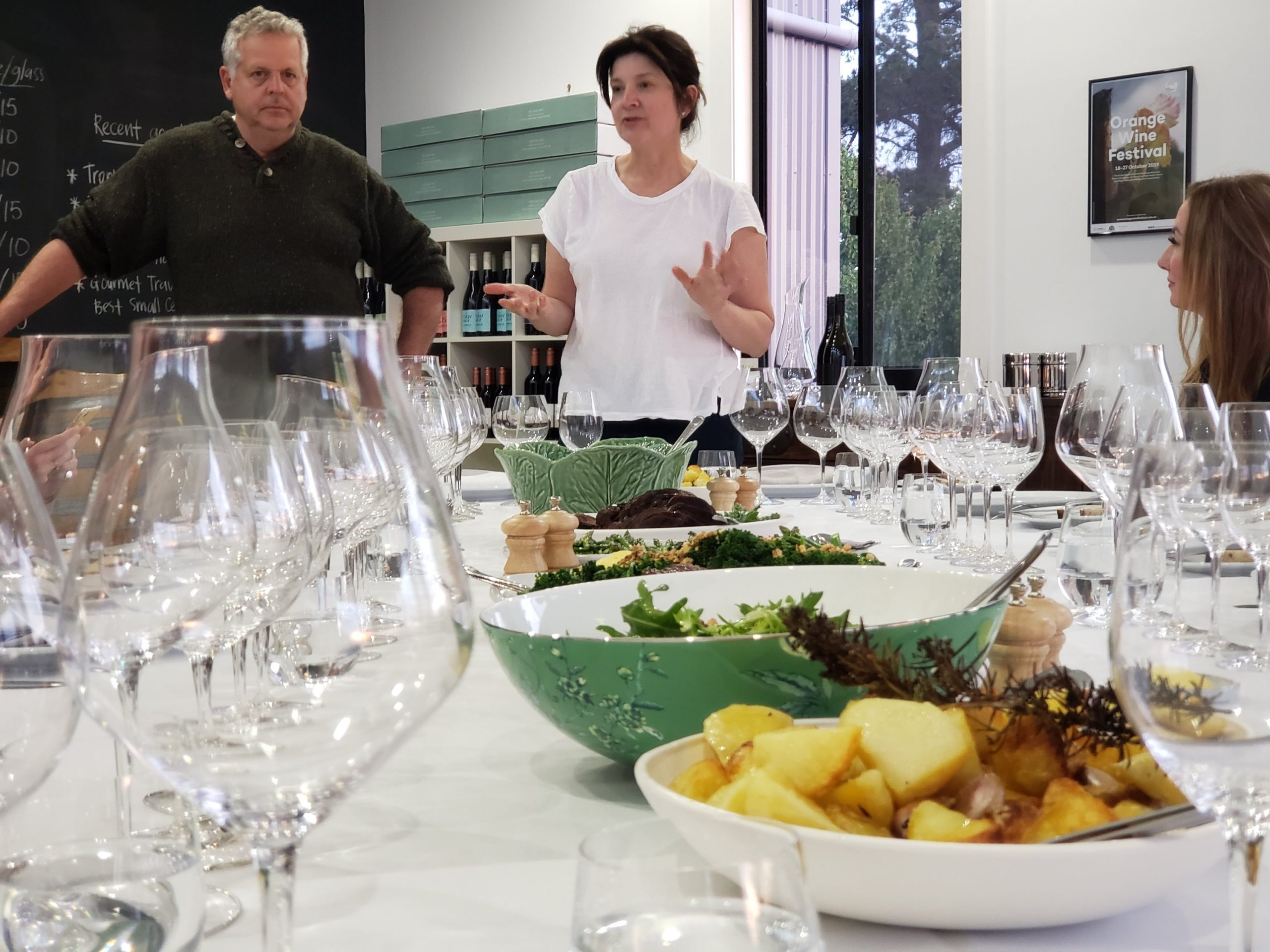 Over a spectacular dinner we learned so much about the wines and the people behind them at Rowlee Wines.