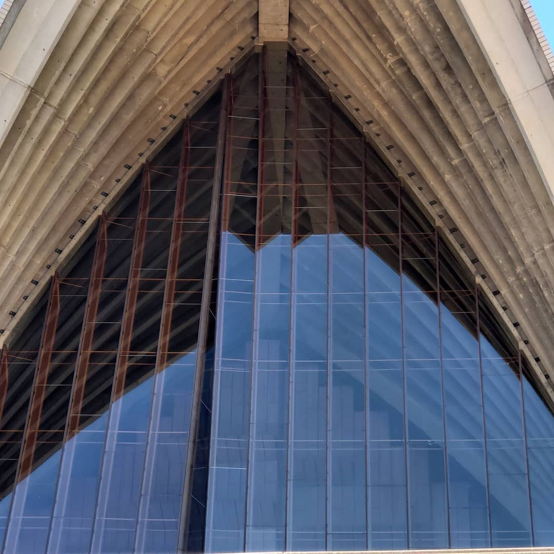 The front of the Concert Hall at the Sydney Opera House