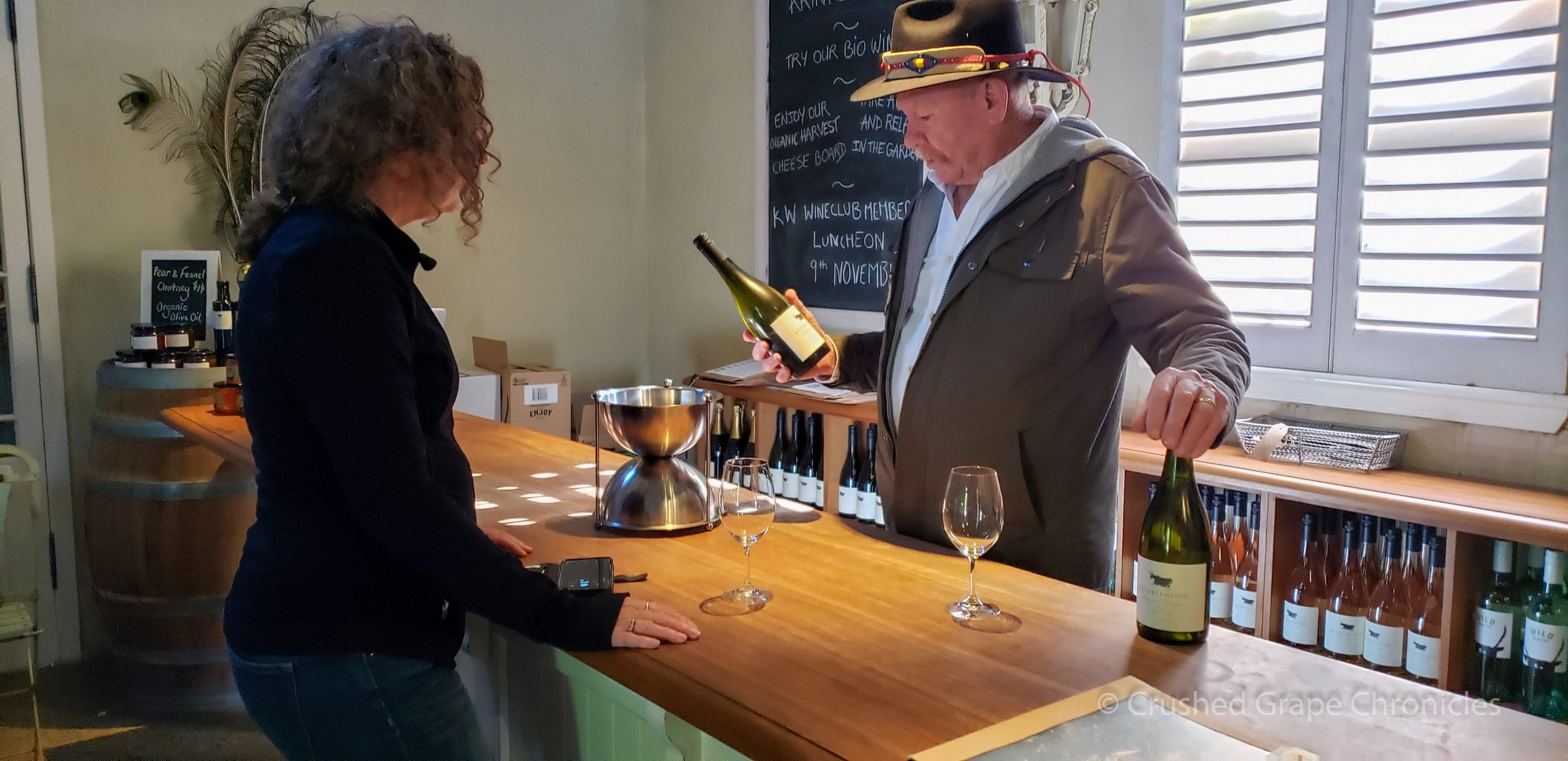 Krinklewood Tasting Room in Hunter Valley Australia with Rod Windrim