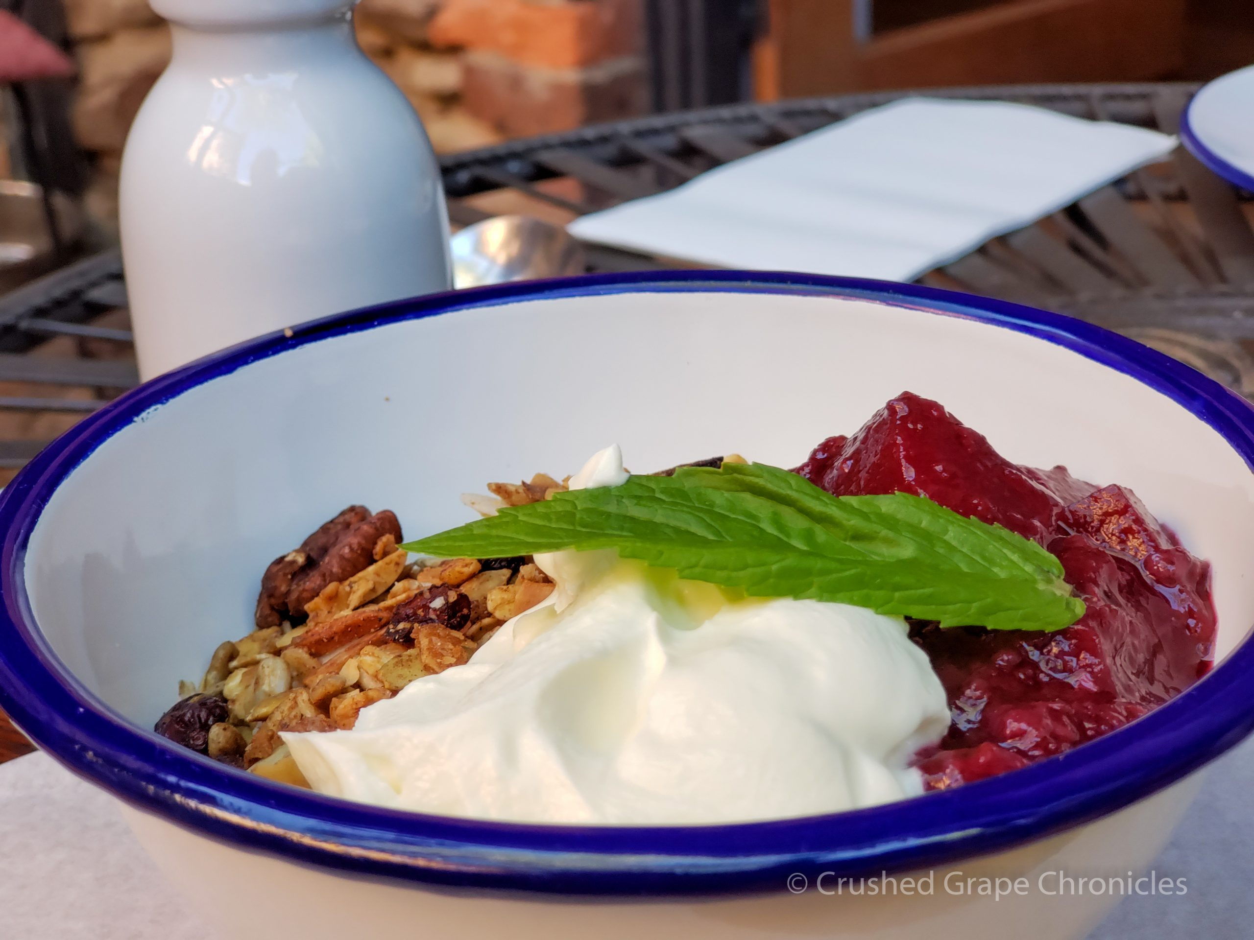 Beautiful, healthy and delicious, yogurt and granola at Alby + Esther's Mudgee