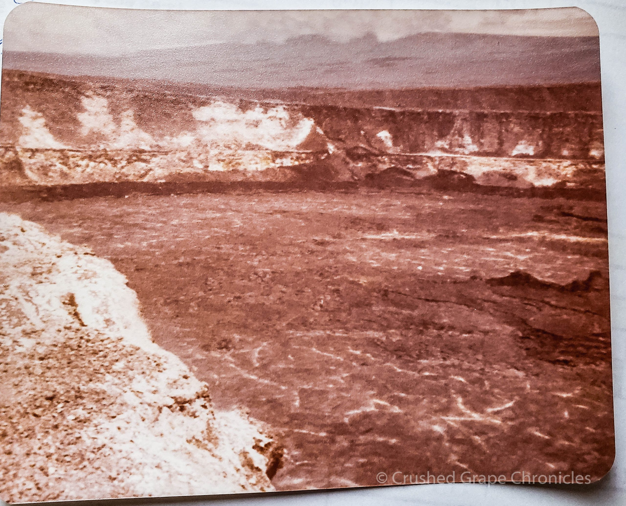 Photo of the volcanic crater at Kilauea circa 1978