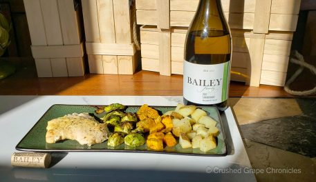 Bailey Family 2017 Chardonnay with Roasted Chicken and Root Vegetables