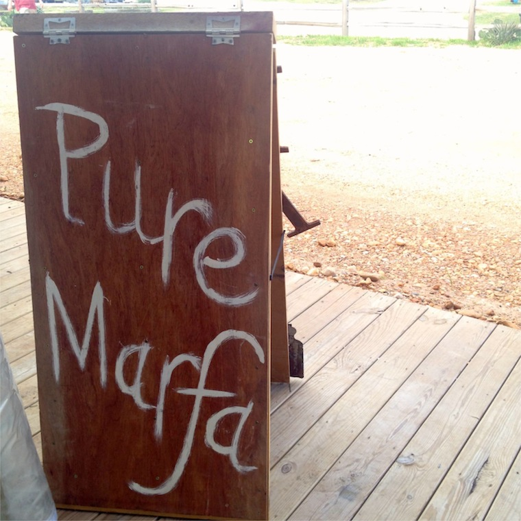 pure marfa sign
