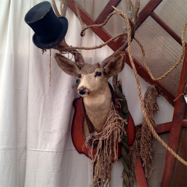 perspective deer top hat