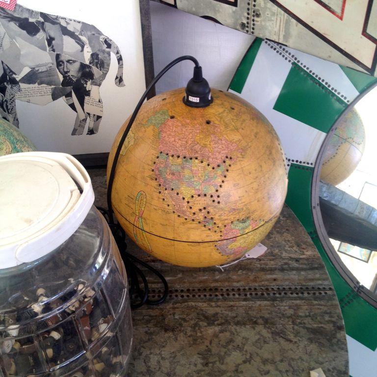 Rust In Peace globe lamp