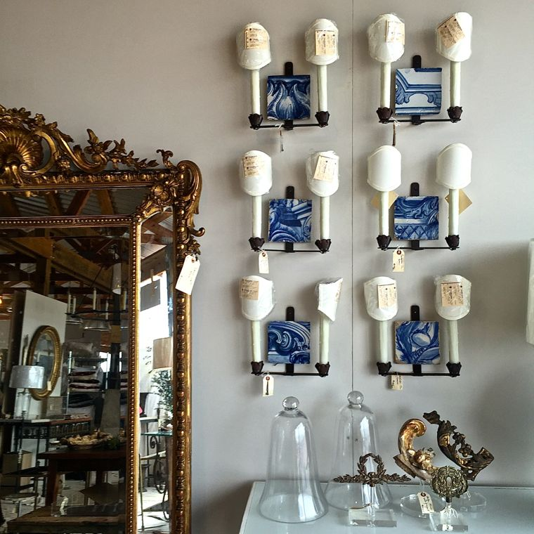 Reworks Blue sconces