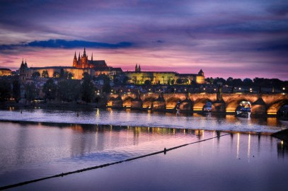 Pôr-do-Sol sobre o Castelo de Praga