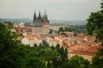 Vista de Petrin para o Castelo de Praga