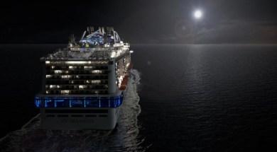 MSC Meraviglia by night