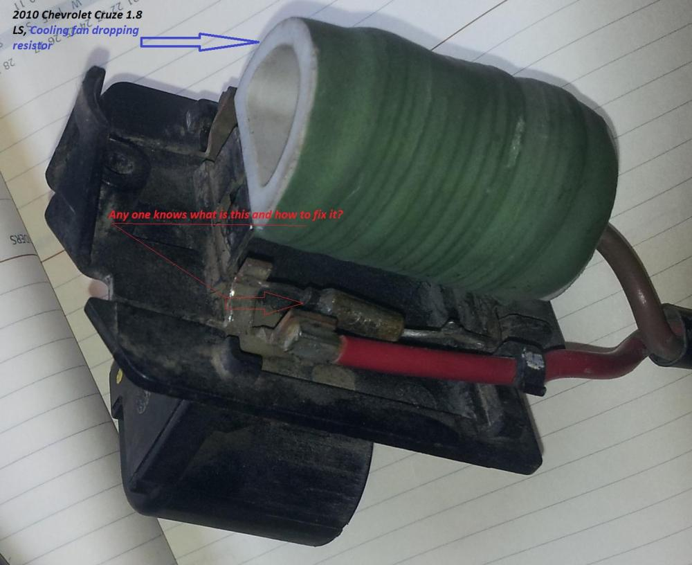 medium resolution of cooling fan dropping resistor problem in 2010 cruze 1 8ls 2011 chevy cruze cooling fan wiring diagram