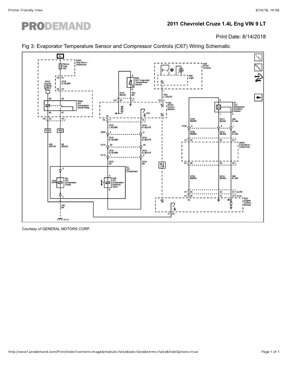 hight resolution of ac clutch troubleshooting chevrolet cruze forums chevy cruze air conditioning wiring diagrams
