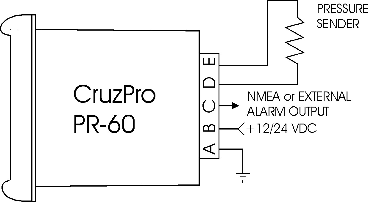 CruzPro PR60 Pressure Gauge and Alarm