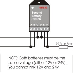 Voltage Sensing Relay Wiring Diagram Beef Cuts Cruzpro Sbs 30 Second Battery Switch Charger