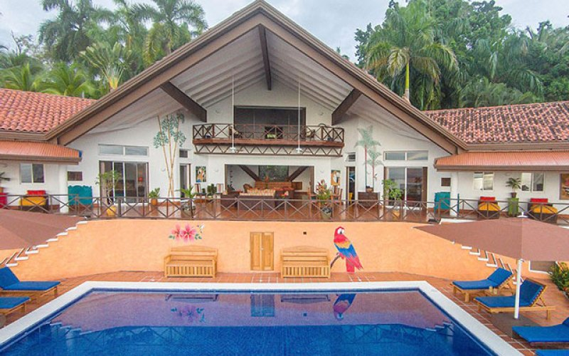 Manuel Antonio Vacation Rental VP Private Resort pool and house in day