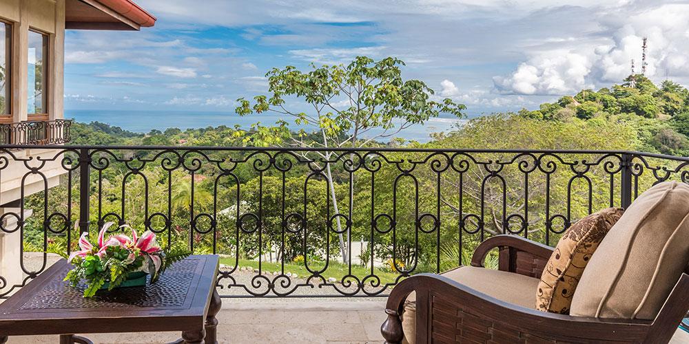 Villa Marbella private balcony view