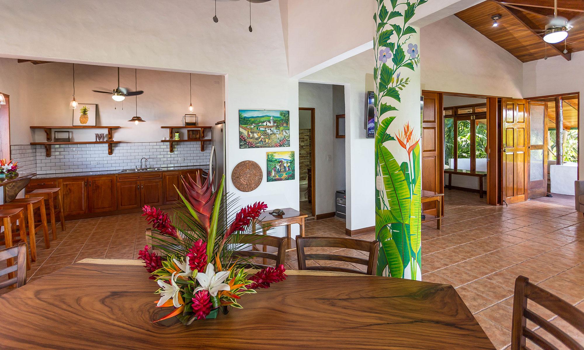 Villa Natura dining room