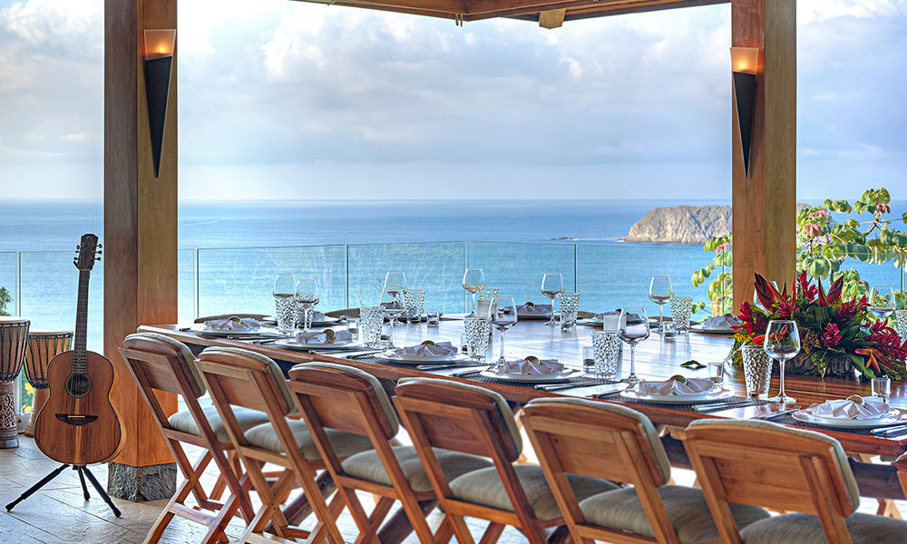 Villa Perfecta dining terrace view