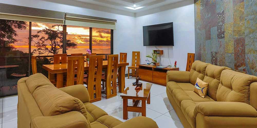 Casa Wyrica living room sunset