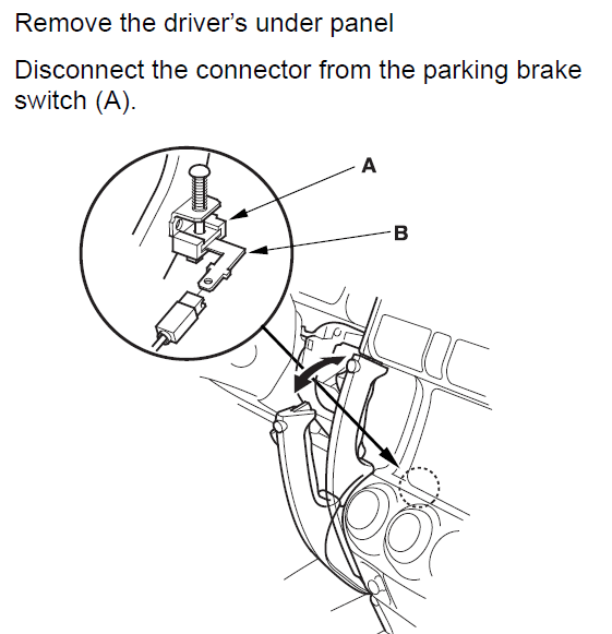 2003 CRV: Parking Brake Wire (ground when parking brake is on)