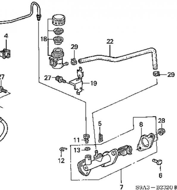 2004 Clutch master cylinder line connection...and