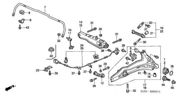 2000 Honda CR-V Rear Differential Leak