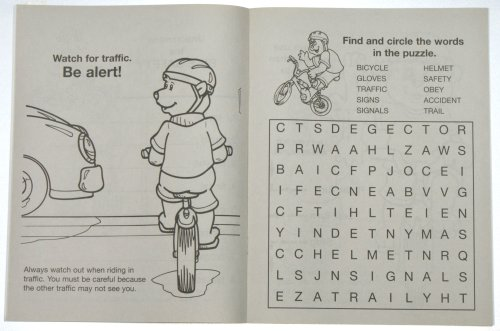 Practice Bike Safety (CB260) Educational Coloring Books